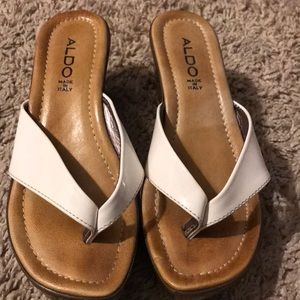 Aldo Platform Wedge Sandals size 7